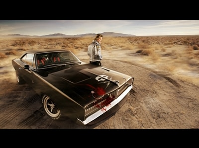 Death proof Charger photoshop